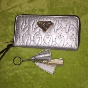 Baby Phat clutch and key chain! Silver! NWOT!